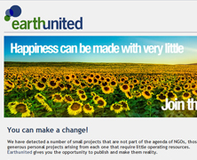 EarthUnited web